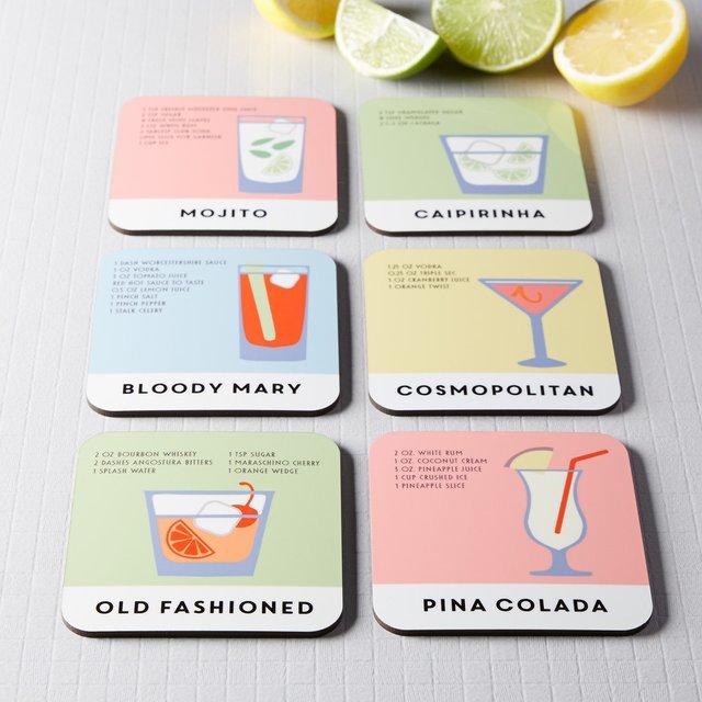 Cocktail Recipe Coaster Set