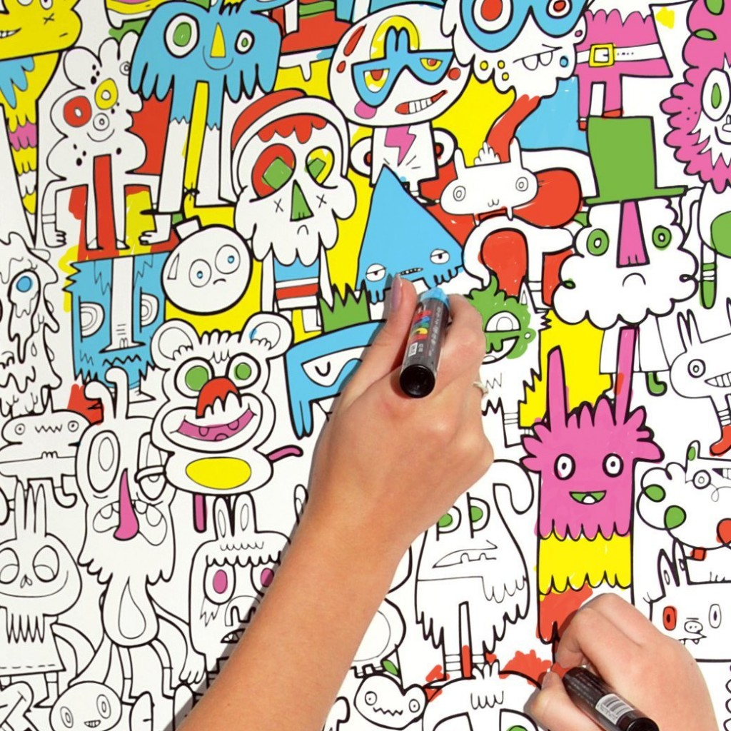 Colour-In Wallpaper