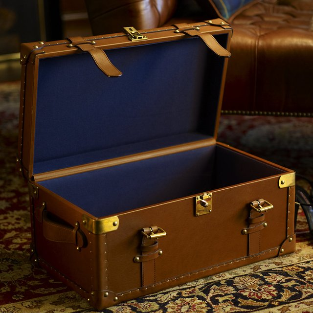 Delevan Leather Trunk by Ralph