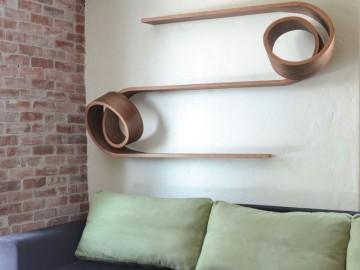 Double Twist Shelf by Kino Guerin