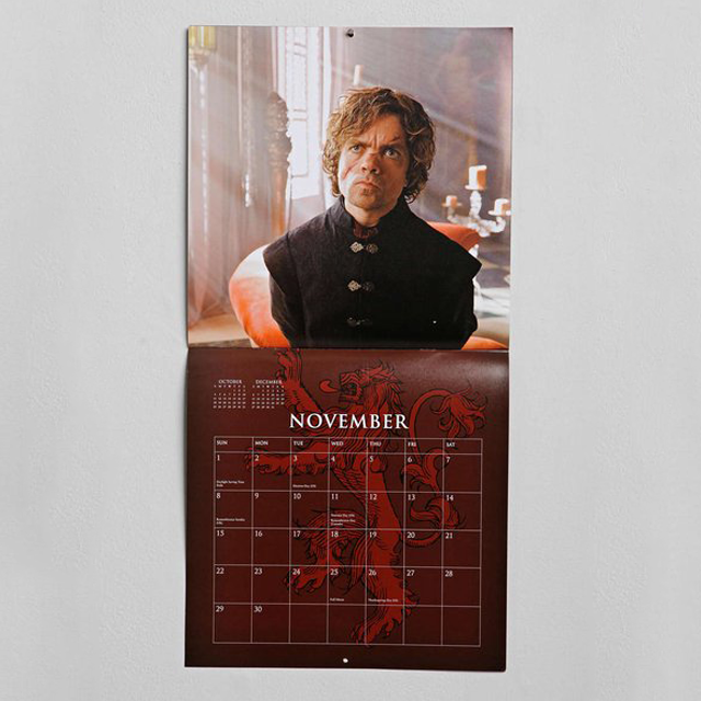 Game Of Thrones 2015 Calendar