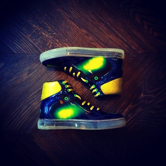 Iridescent High Tops by Balenciaga
