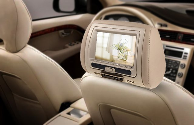 LCD Car Pillow DVD Player