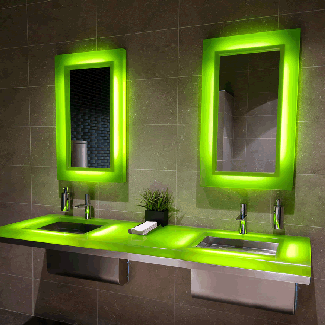 LED Revision Mirror by Neo-Metro