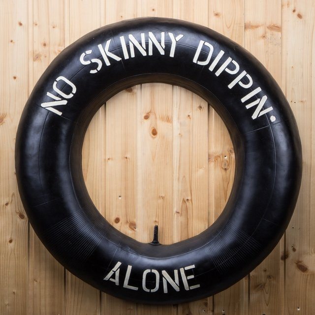 No Skinny Dippin' Alone Sign
