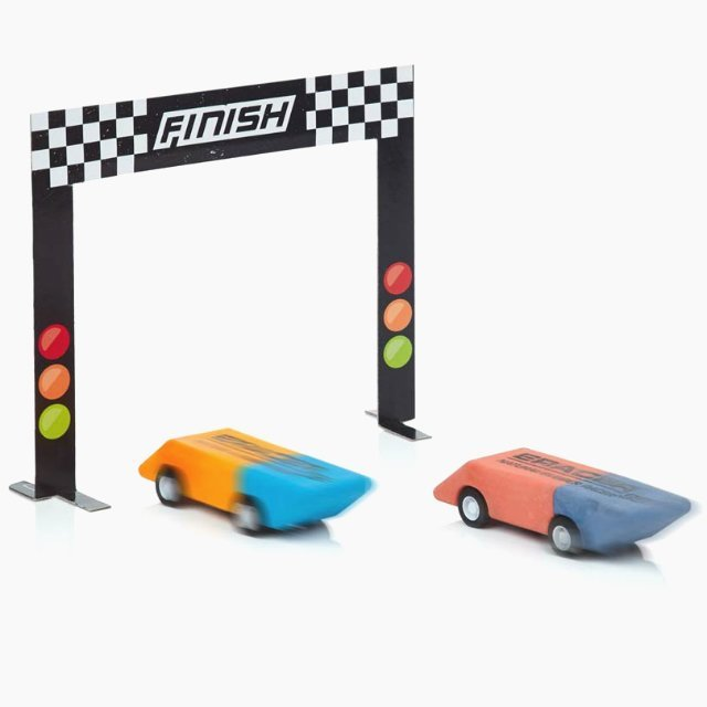 Pull Back Pencil And Eraser Racer