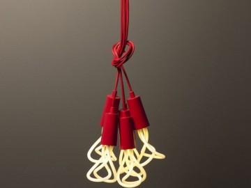 Red Drop Cap Pendants by Plumen