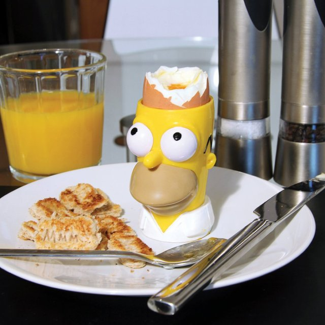 Simpsons Egg and Toast Set