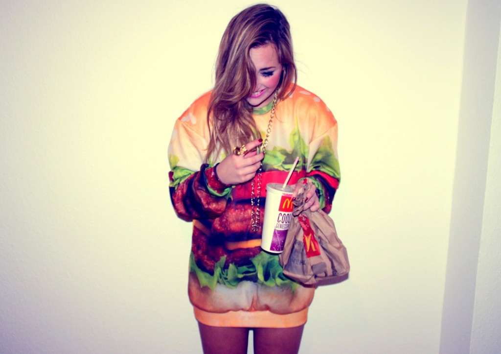 Tasty Burger Sexy Sweater