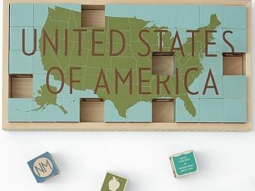 United States Puzzle Blocks