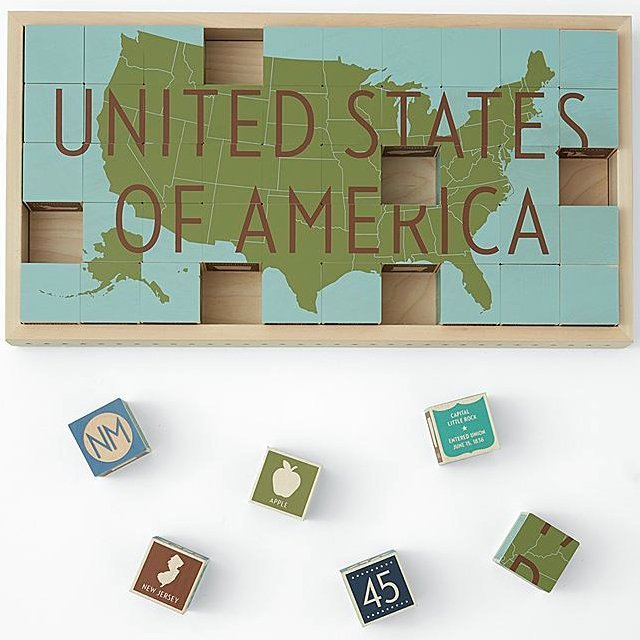 United States Puzzle Blocks