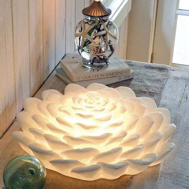White Lotus Flower Lamp