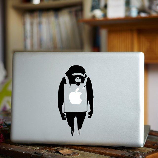 Banksy Monkey MacBook Decal