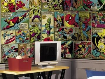 Comic Panel Wall Mural