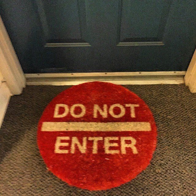 Do Not Enter Doormat