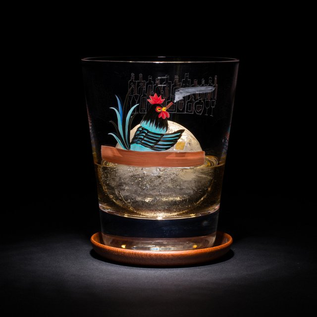 Hand Painted Old Fashioned Tumblers by Sokichi