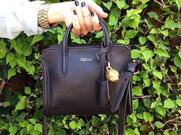 Mini Padlock Calfskin Leather Duffel Bag by Alexander McQueen