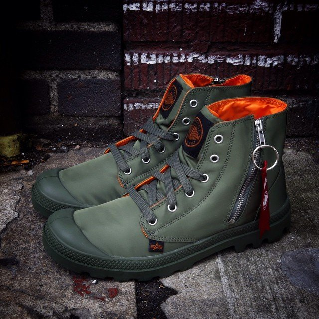 Pampa Hi Zip MA-1 SGE by Palladium x Alpha Industries