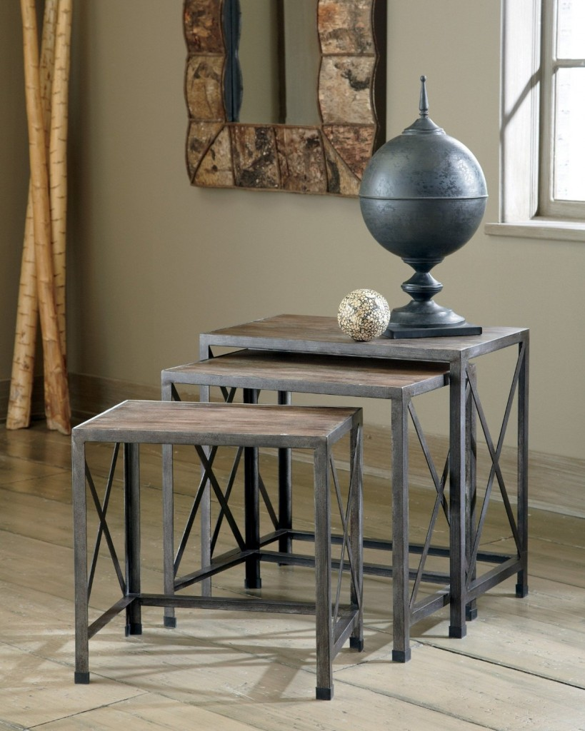 Rustic Accents Nesting End Tables