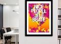 Nice People Celebrate Print by Danny Ivan