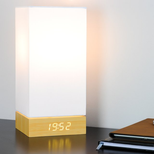 Beech Click Clock Lamp by Gingko