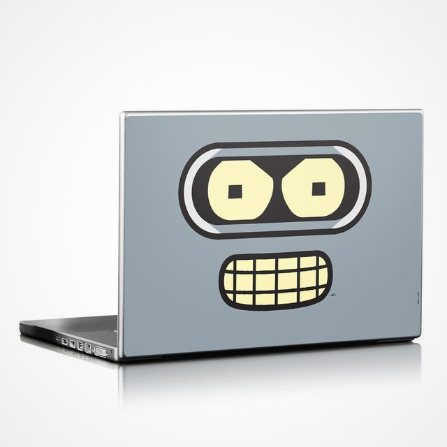 Bender Face Laptop Skin