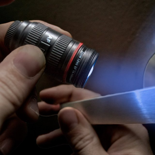 Camera Lens Light Up Keychain