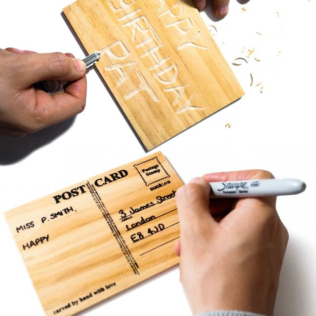 Carve Your Own Card