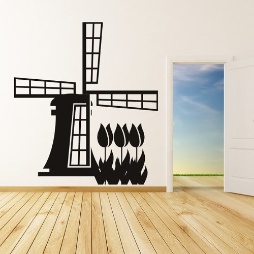 Dutch Windmill Wall Sticker Landmark Wall Decal