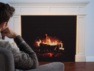 Faux Fireplace Decal