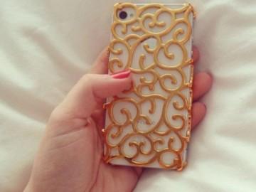 Gold Baroque iPhone Case