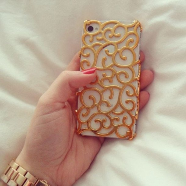 Gold Baroque iPhone Case
