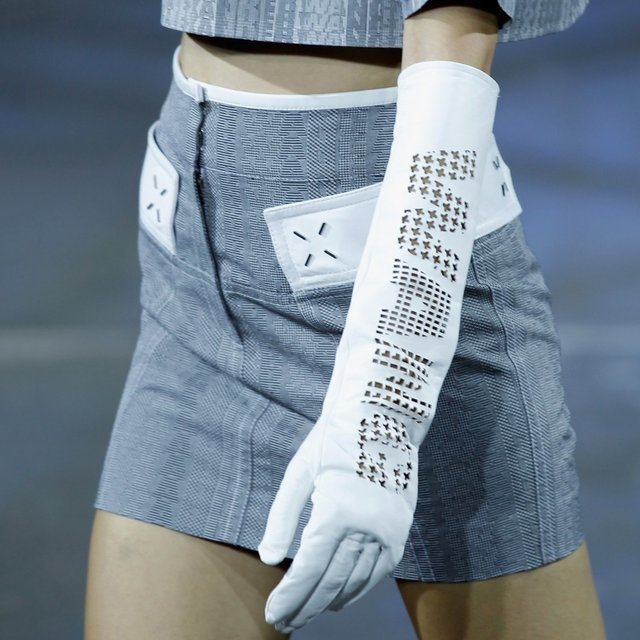 Laser Cut Leather Gloves by Alexander Wang