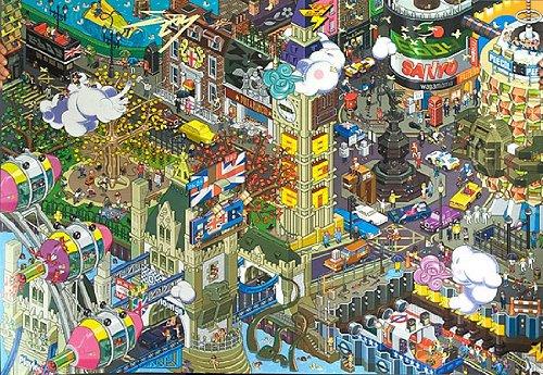 London – A2 art print by eBoy