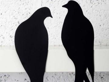 Lovebirds Metal Sculpture