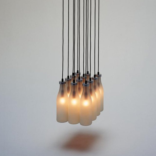 Milk Bottle Lamps by Tejo Remy