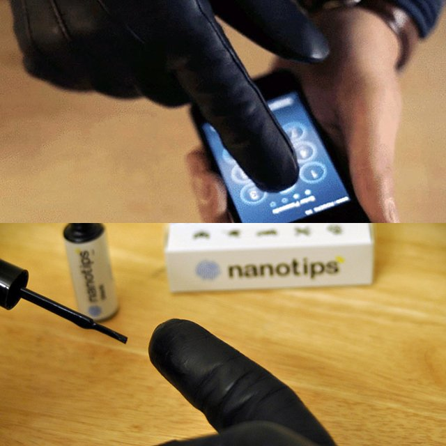 Nanotips Touchscreen Glove
