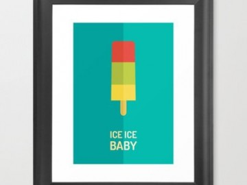 Striped Ice Lolly Print