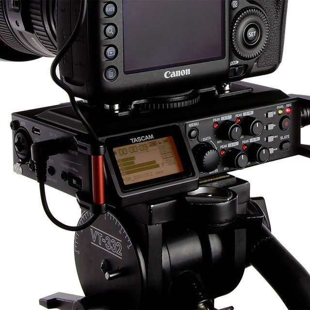 Tascam DR-70D Audio Recorder for DSLR Cameras