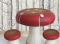 Toadstool Table & Stools Set