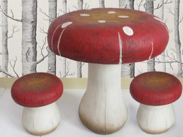 Toadstool Table & Stools Set