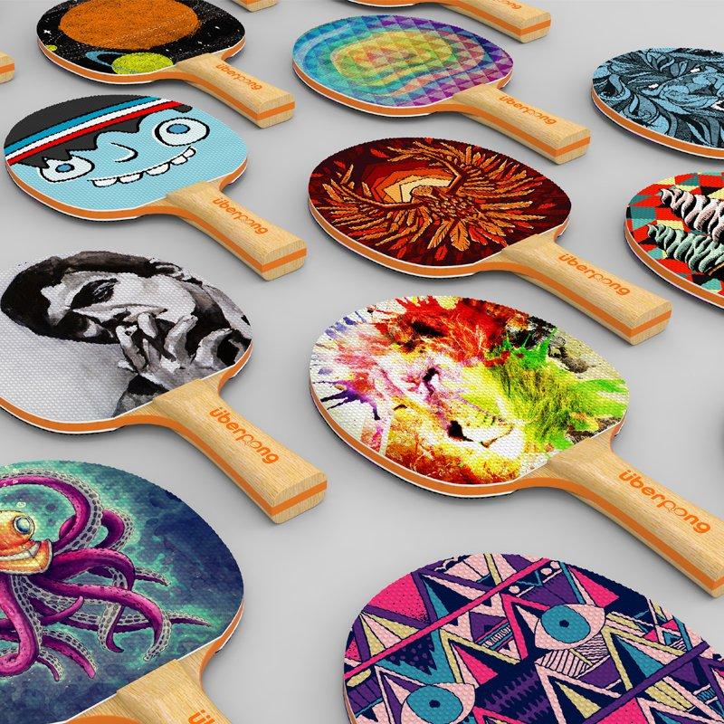 Uberpong Designer Ping Pong Paddles