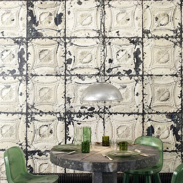 Tin Tiles Wallpaper by Merci