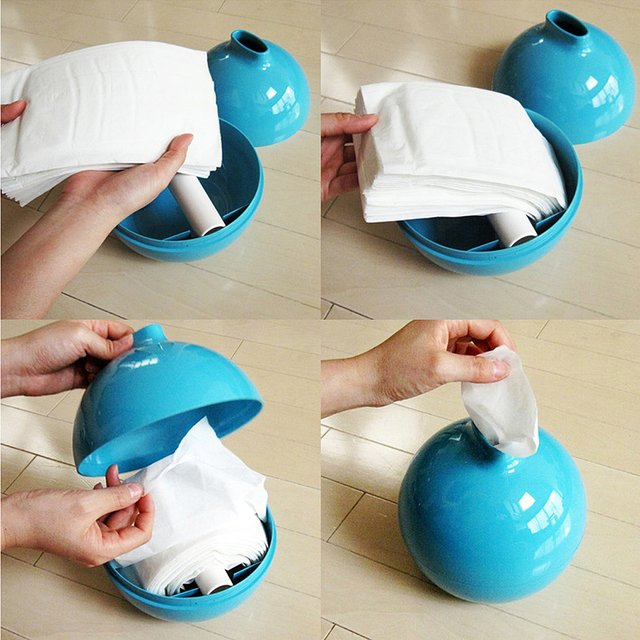 Paper Pot Tissue Holder