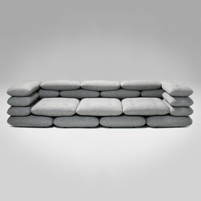 Brick 3-Seater Sofa by KiBiSi