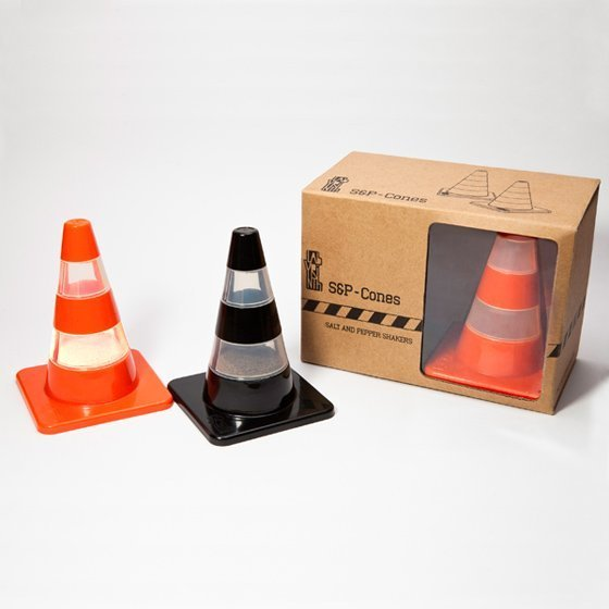 Salt and Pepper Traffic Cones Shakers