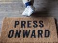 Press Onward Doormat by Izola