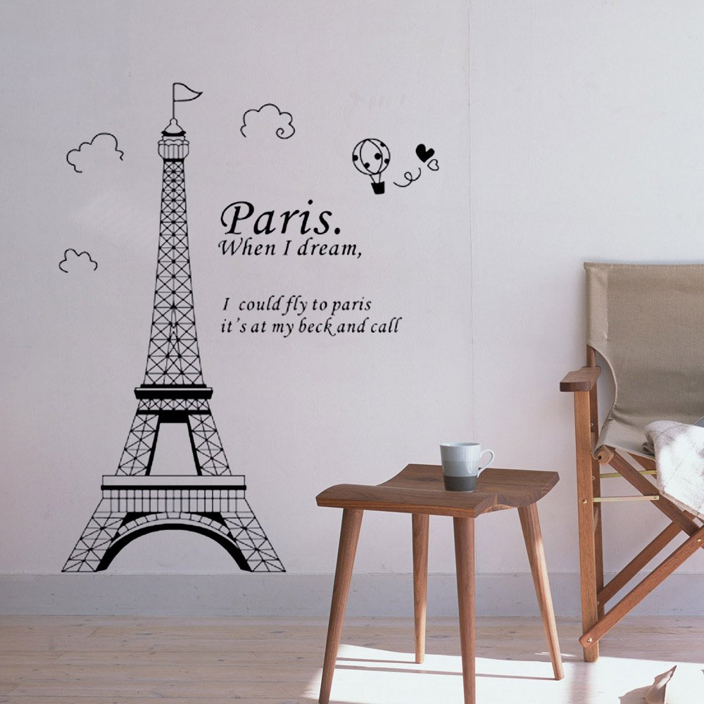 Paris Eiffel Tower Beautiful Stickers