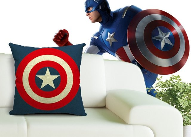 The Captain America Shield Throw Pillow