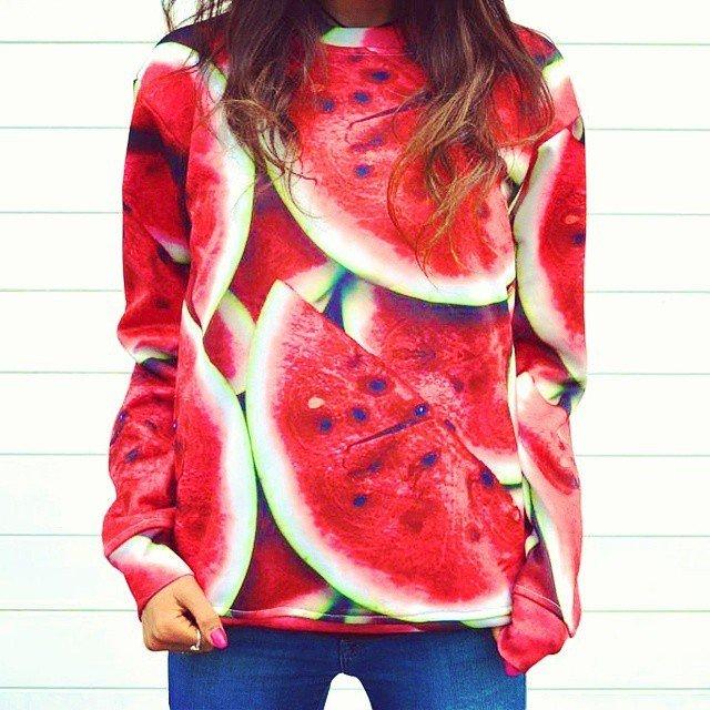 Watermelon Sweater by Shelfies